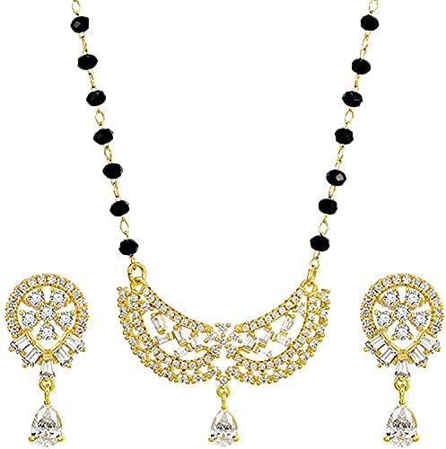 Collar, Pulsera, Juego de Aretes para Mujer, Collar de Máscara de Oro de 24 K, Aretes de Cristal Brillante, Juego de Joyas de Boda, Mejores Regalos, Dorado, DTTX001