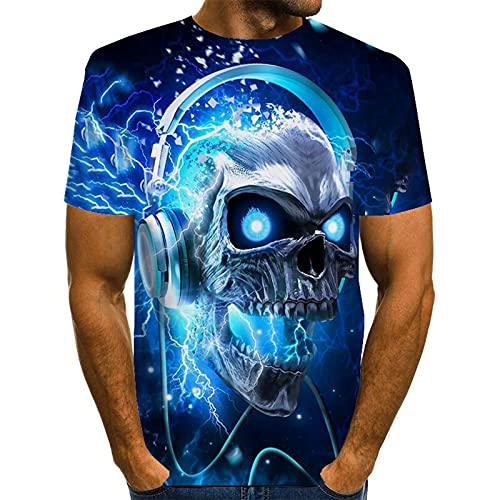 SSBZYES Camisetas para Hombre Camisetas De Cuello Redondo para Hombre Camisetas De Gran Tamaño para Hombre Camisetas con Estampado De Moda Camisetas Holgadas Y Cómodas De Verano Camisetas Azules