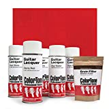 ColorTone Aerosol Finishing Set with Tinted Lacquer, Cherry Red