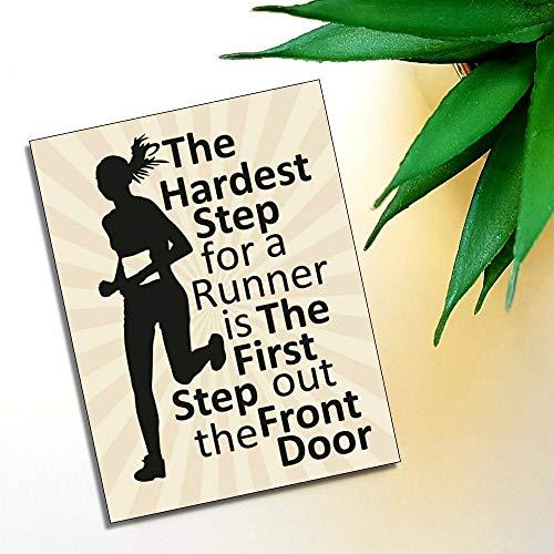 43LenaJon Imán de nevera motivacional El paso más duro para un corredor de fitness regalo