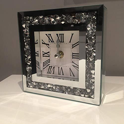 Elegant Wall Clock Diamante Glas...