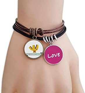 Singapore Art Science Museum Love Bracelet Leather Rope Wristband Couple Set