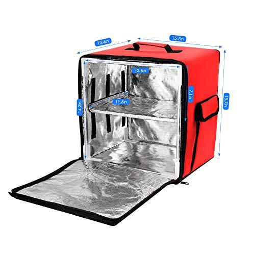 TTLIFE Pizza Zum Mitnehmen Rucksack Aluminiumfolie Isolierbeutel PVC Wasserdicht