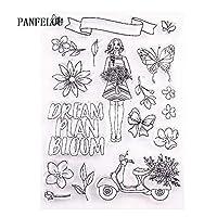 11x15女の子の夢透明なクリアシリコーンスタンプ/シールDIYスクラップブッキング/フォトアルバム装飾的なクリアスタンプシート