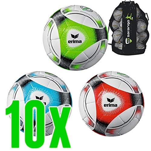 Sarango Sport Erima Hybrid Training Fussball 10er Ballpaket inkl. Ballsack NEU, Wähle Deine Größe:3