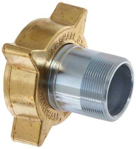 Dixon ME130 Brass Nut Steel Nipple Air Hose Fitting, LP Gas Hose Coupling, 3-1/4 Acme Female x 2 NPT Male by Dixon Valve & Coupling