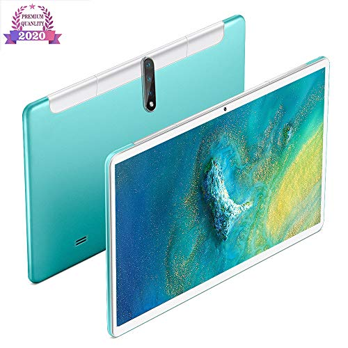 Tablet 10 Inch, Android 9.0 4G / 5G Tabletten PC met dual SIM-kaart slots en camera, 32GB opslag, quad-core processor, Google Certified, Bluetooth, Wi-Fi, GPS,Green