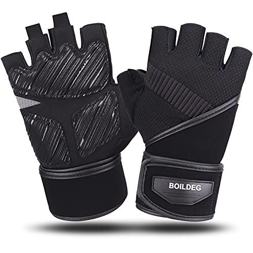 Boildeg Fitness Handschuhe, Trainingshandschuhe mit Handgelenkstütze und Palm...