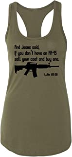 Comical Shirt Ladies Jesus Pro Guns AR15 Bible 22 36 Shirt Funny Gun Racerback