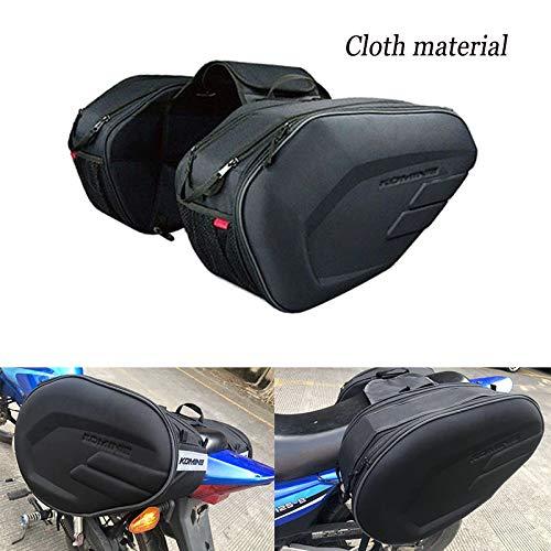 Motocicleta Impermeable Saddleags Casco Moto Bolsa Lateral Cola Maleta de Equipaje Maleta de Motor Bicicletas de Tanques de Combustible Bolsas de sillín (Color Name : 1 Set Cloth Material)