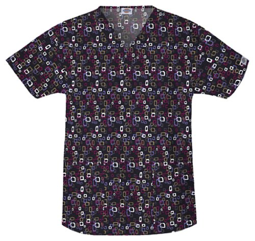 Dickies 80707 V-Neck Top, Chatter Box-XS