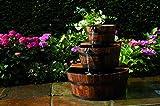 Gartenwelt Riegelsberger Wasserspiel Edinburgh Springbrunnen Set Holzfass Gartenbrunnen Brunnen