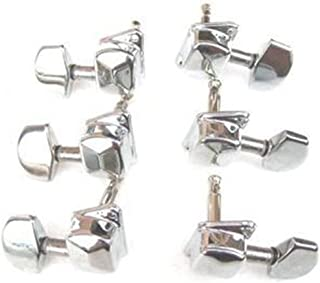 Vanki Set of 6 Classical Chrome Guitar String Tuning Pegs Tuners Head
