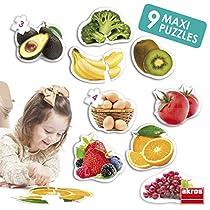 Akros-AKRP1-Maxi-Puzzles-Healthy-Foods-Rompecabezas-Multicolor-INTERDIDAK-SL-AKROS50222