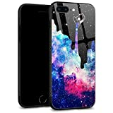 iPhone SE 2020 Case,Space Galaxy for iPhone 8 Case,Men Boy iPhone 7 Cases,Tempered Glass Back Pattern with Soft TPU Bumper Case for Apple iPhone 7/8/SE2 Case 4.7-inch Space Galaxy