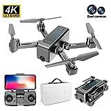 Blentude Drone GPS Pliant H5 5GGPS avec caméra 4K en Direct - Vidéo 1200mAh Long Temps de vol Stable Hover Double caméra Drone RC Pliable Quadricoptère