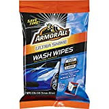 Armor All 18240-6PK Car Wash Wipes 12 Count Cleaning for Cars & Truck & Motorcycle, Ultra Shine, 6 Pack