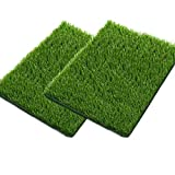SSRIVER Artificial Grass for Dogs Pee Tray Fake Grass Mat for Professional Puppy Potty Trainer Replacement Dog Grass Pad for Indoor and Outdoor 2 PCS