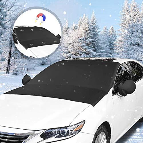 yotame Frontscheibenabdeckung, Auto Scheibenabdeckung Winterschutz Abdeckung Magnet Faltbare Auto Frostabdeckung Anti Frost, Schnee, Wind, Staub