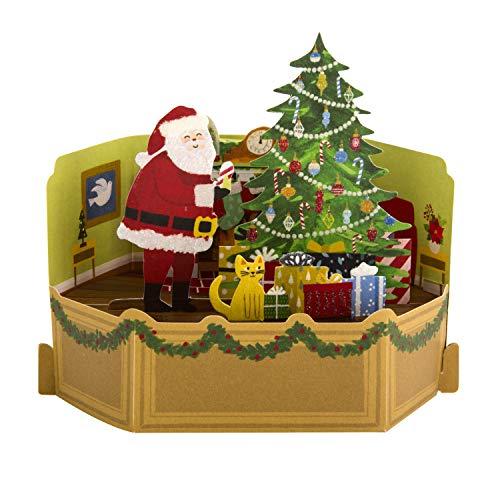Pop-Up 3D Weihnachtskarte von Hallmark - Paper Wonder Living Room Scene Design