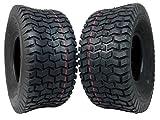 MASSFX Lawn & Garden Mower Tires 15x6-6 MO1566 4 PLY 6mm Tread 2 Tire Set