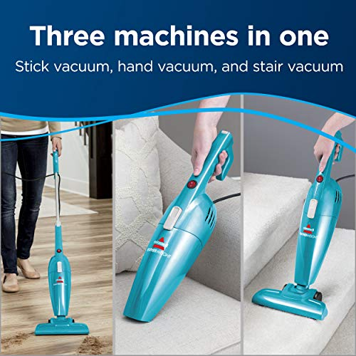Bissell Featherweight Stick Lightweight Bagless Vacuum With Crevice Tool, 2033, One Size Fits All, Blue