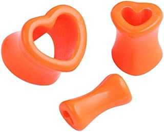 Herzförmiger Ohrmuschel-Piercingschmuck aus Acryl