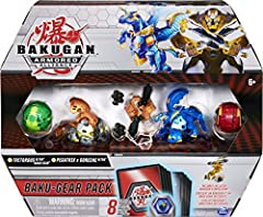 EXCLUSIVE BAKUGAN ULTRA AND BAKU-GEAR: With an exclusive Bakugan Ultra and Baku-Gear included in every pack, power up your battles! Drop the Baku-Gear onto your character for an epic transformation! TRANSFORM AND BATTLE: Roll the 2 Bakugan over the B...