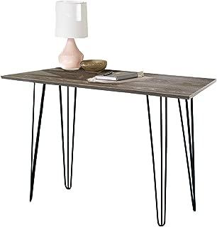 ChooChoo Computer Desk Altra Owen Retro Desk with Metal Legs, Home Office Desk 43 inch Brown