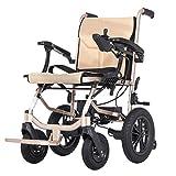 AFDK la silla de ruedas eléctrica más ligera y compacta del mundo - Silla de ruedas eléctrica plegable ultra portátil - Pesas de solo 31 lb (incluida la batería de litio 5.2A * 2) - Ancho del asiento