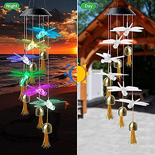 TTIK Color Changing Solar Wind Chime Mom Birthday Gift Party Night String Light Outdoor Indoor Garden Decor Gifts Door Bells