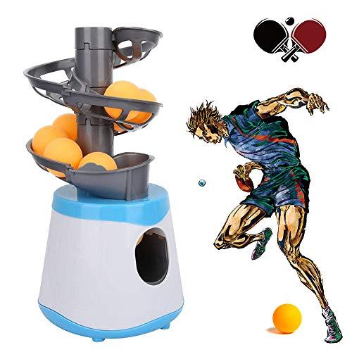 ZhiLianZhao Automatische Tischtennis Ballmaschine, Tischtennis-Trainer-Roboter Kinder & Erwachsen Berufsausbildung Schulturnhalle 15 Bälle