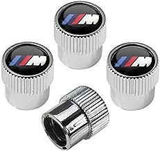 hongyangfumeilai HYFML for BMW M Logo zinc Alloy Plating Chrome Tire Stem Valve Caps