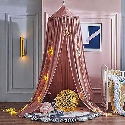 Toldo de cama vintage: el diseño de dosel de cama de princesa vintage puede dar a los niños una hermosa ropa de cama. DISEÑO ÚNICO: El dosel nunca daña la piel de los bebés ni rasca a los niños y es lavable. FÁCIL DE INSTALAR: Viene con accesorios co...