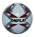 SYNPLAY PVC Soccer Ball Machine Stitch, Size 5 (White)