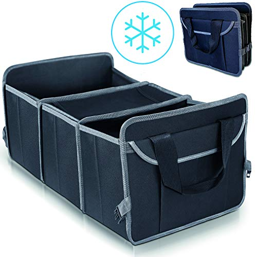 VAVO Faltbare Kofferraumtasche mit Kühlfach - Sommer Edition - Absolut rutschfest - Perfekt für Einkäufe - Gebaut für die Ewigkeit - Kofferraum Organizer Auto/Faltbox