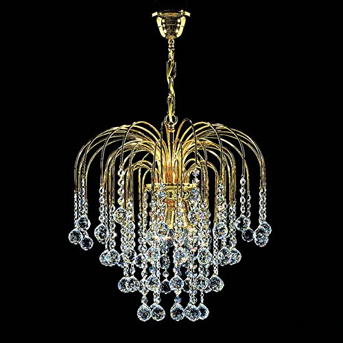 Art Deco Kristall Kronleuchter Kolarz-Leuchten in 24 Karat Gold transparent gold hell | Handgefertigt in Italien | Luster Klassisch Dimmbar | Lampe E14