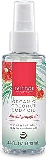 Nutiva Organic Coconut Body Oil Grapefruit, 3.4-ounce