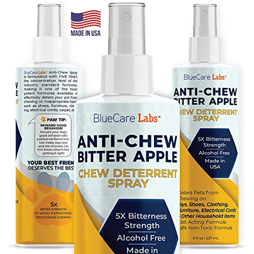 Bitter Apple Spray for Dogs Anti Chew Bitter Deterrent Spray for Dogs & Puppies Cats & Kittens -...