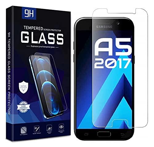 Cracksin [2 unidades] Cristal blindado compatible con Samsung Galaxy A5 2017 Protector...