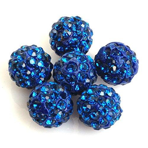 Sweet? & Happy Girl 's store Lose pflastern Glanz Blue Beads 10mm f¨¹r Schmuck machen (10 Perlen pro Sweet & Happy Girl'S Shop Viele)
