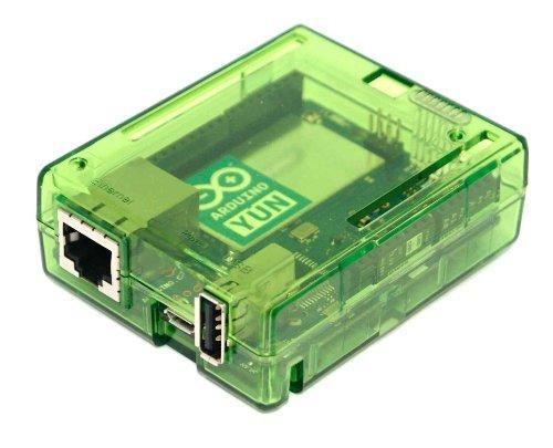 sb components Premium Arduino Yun Case Enclosure Protective Transparent Case Cover for Arduino Yun (Green)