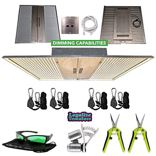 NextLight Mega (with COM Port) LED Grow Light Package | Includes 2X Ratchet Hangers, 2X Scissors, LED Glasses, and Phone Microscope