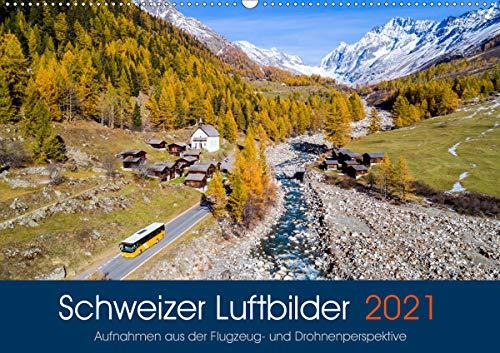 Schweizer Luftbilder (Wandkalender 2021 DIN A2 quer)