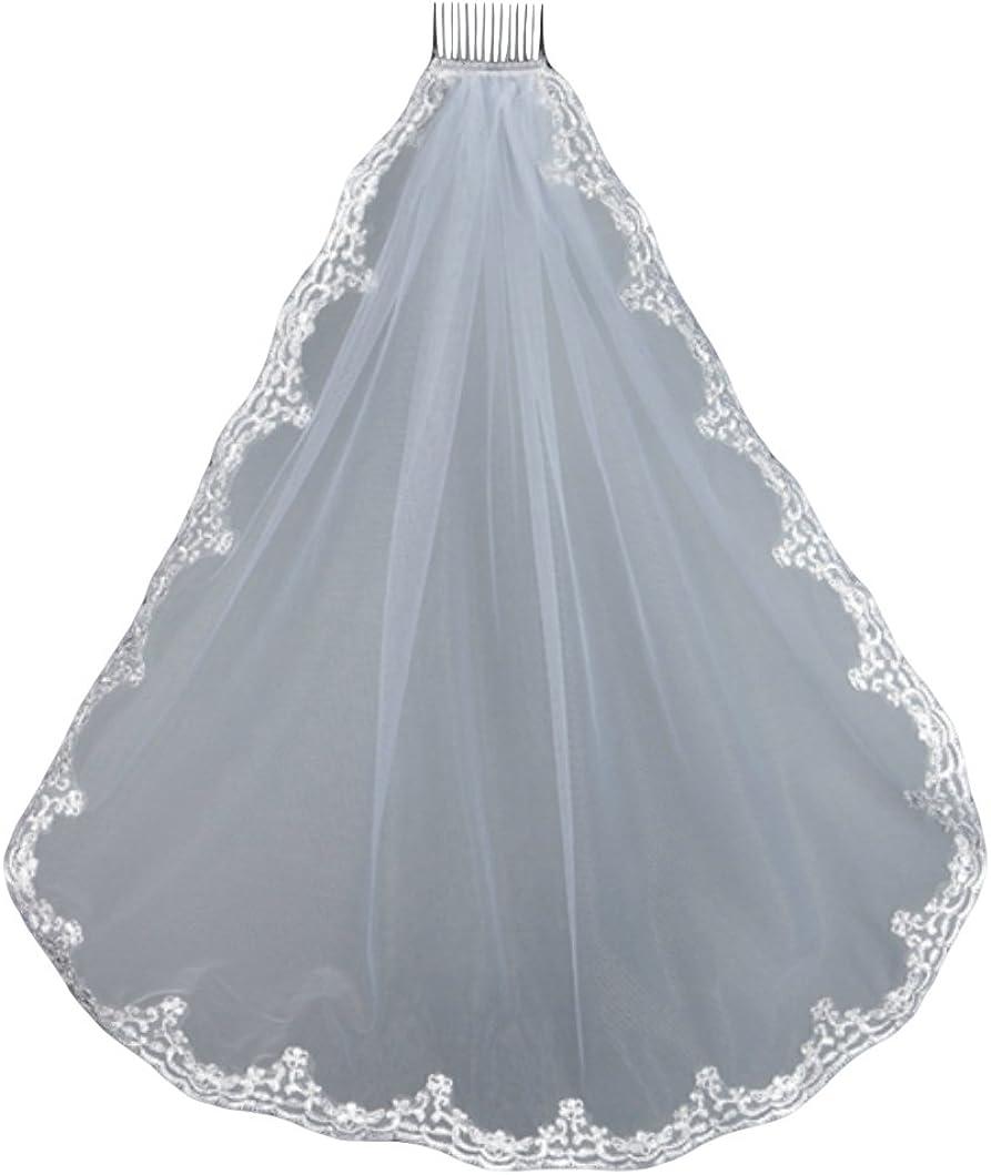 Lace Edge Mantilla First Communion Veil 36
