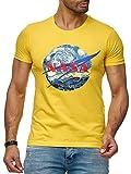 Red Bridge M1297 Abstract NASA Vincent Van Gogh - Camiseta de Manga Corta para Hombre (Cuello Redondo, algodón) Amarillo XXL