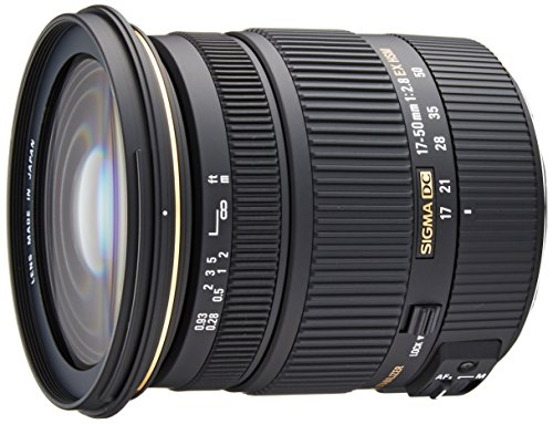 Sigma - Objetivo 17-50 mm f/2,8 EX DC OS HSM (Rosca para Filtro de 77 mm) para cámaras Digitales SLR de Canon con sensores APS-C, Color Negro
