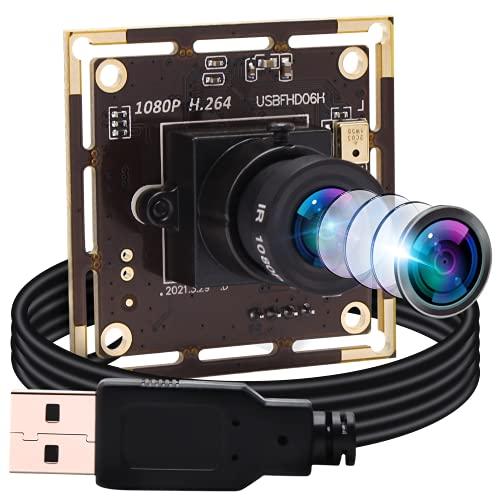 ELP Webcam 1080P H.264 Low Light USB Camera Modulo Mini Camera (obiettivo 3.6 mm USB Camera Modulo)