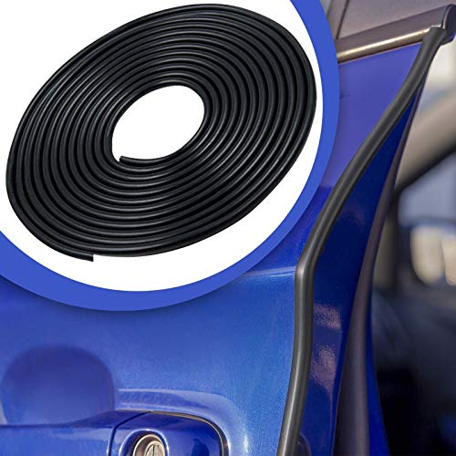 2 m auto deurrandbescherming U-vormig profiel decoratieve strip beschermer 2 meter zwart