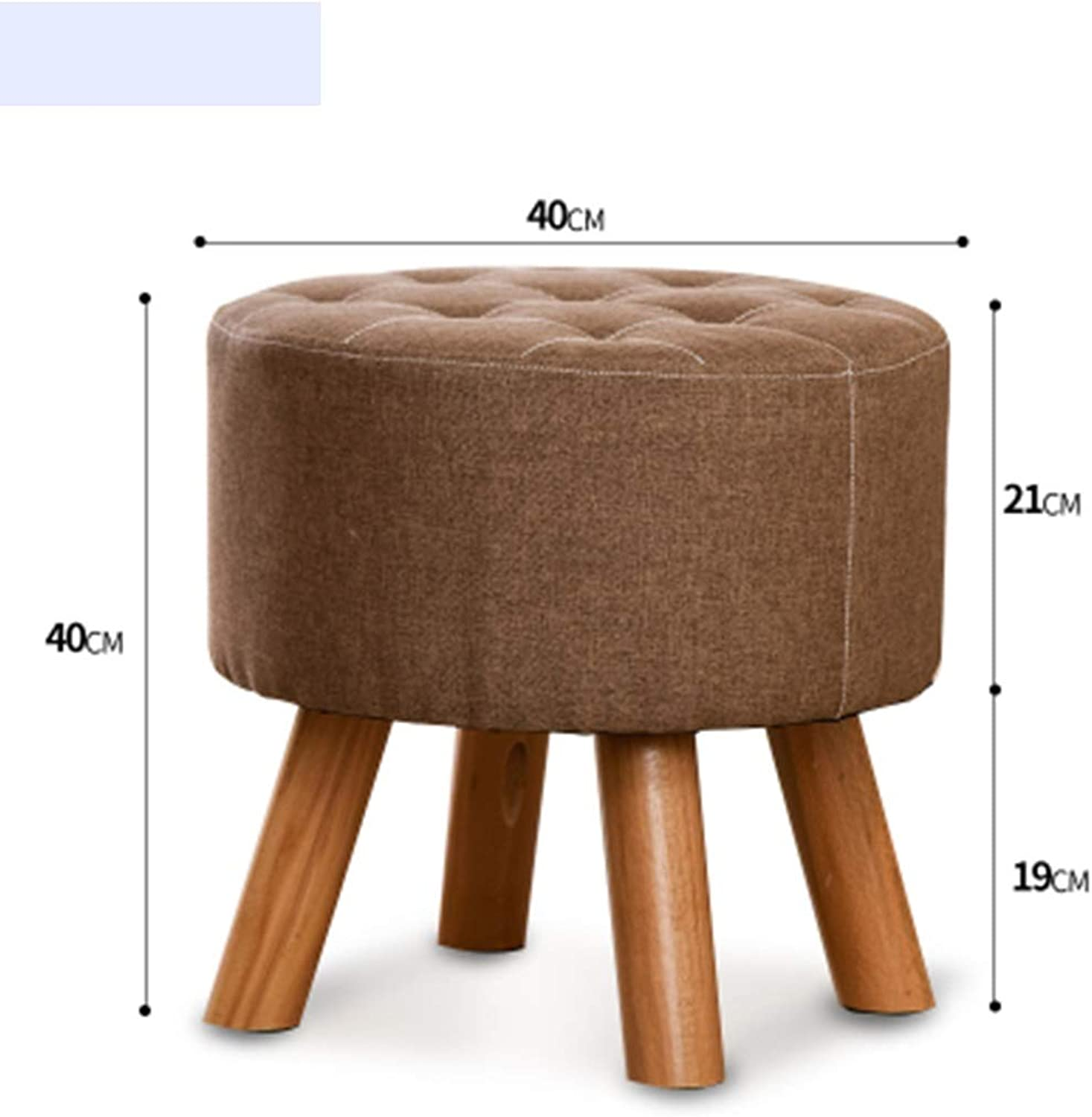 RHHWJJXB Solid Wood Stool Creative Fashion Square Stool Change shoes Stool Makeup Stool Small Wooden Bench Dining Table Stool Home Solid Wood Fabric Stool (color   D)
